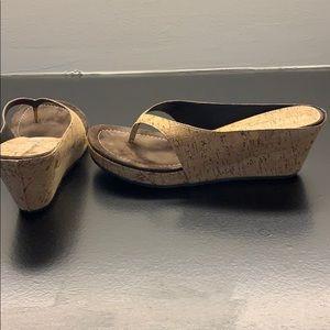 Donald J Pliner cork wedges. Like new. 7 1.2 M